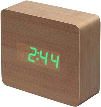 Réveil Digital Chambre Muet Réveil Électronique Lumineux
