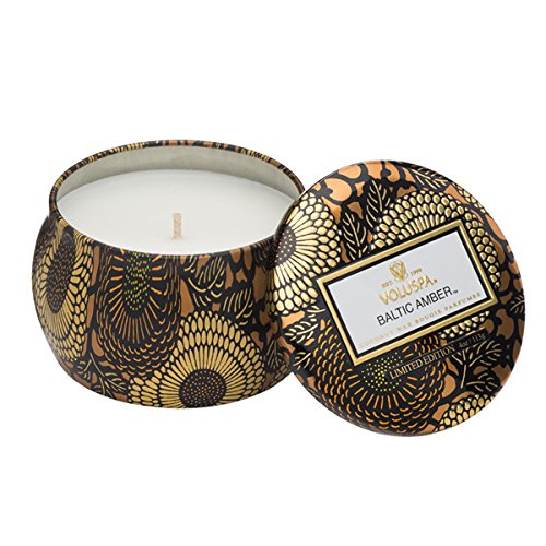 - Voluspa Baltic Amber Petite Decorative Limited Candle, 4 Ounce