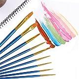 Paint Brush Set, 36 pcs Nylon Hair Brushes for