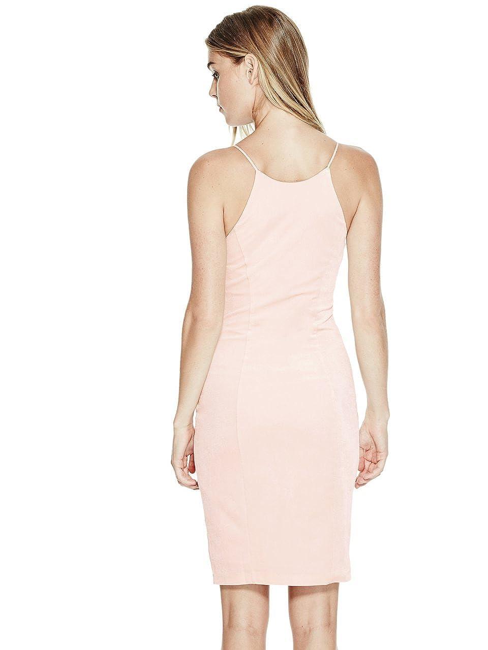 822a24cb GUESS Erika Velvet Sheath Dress Pink Sheer S at Amazon Women's Clothing  store: