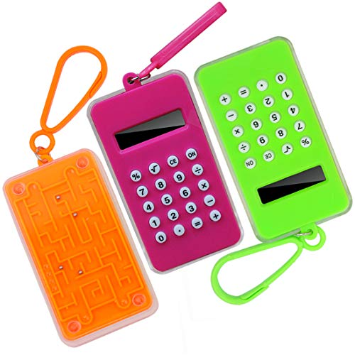 FineInno Cute Calculator for Boys and Girls Chirstmas and School Gift (3 Maze)