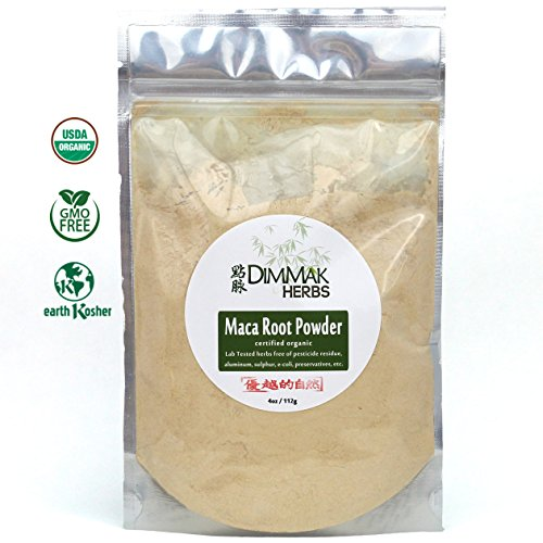 Organic Maca Concentrate Powder 1% Glucosinolates 4oz | MacaXtra Organic Nutraceutical Lab Tested Maca Root Powder Extract | USDA Organic, Kosher, Food Grade Quality 112g