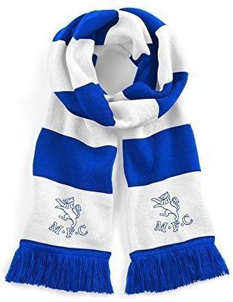 Retro Preston North End Navy//White Traditional Football Scarf Embroidered Logo