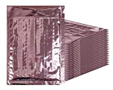 Bubble mailers 4x7. Padded envelopes 4 x 7 by Amiff. Pack of 20 Rose Gold cushion envelopes. Exterior size 5x8 (5 x 8). Peel & Seal. Glamour Metallic foil. Mailing & shipping & packing & packaging.