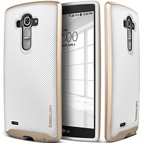 LG G4 Case, Caseology® [Envoy Series] Premium Leather Bumper Cover [Carbon Fiber Black] [Leather Bound] for G4 - Carbon Fiber Black ...