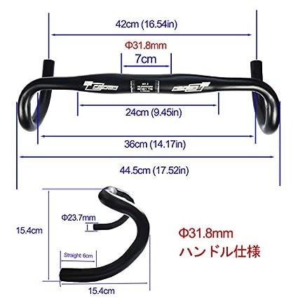 upanbike bicicleta de carretera Fixed Gear bicicleta Bar manillar de Bent Resto Bar 31,8/mm