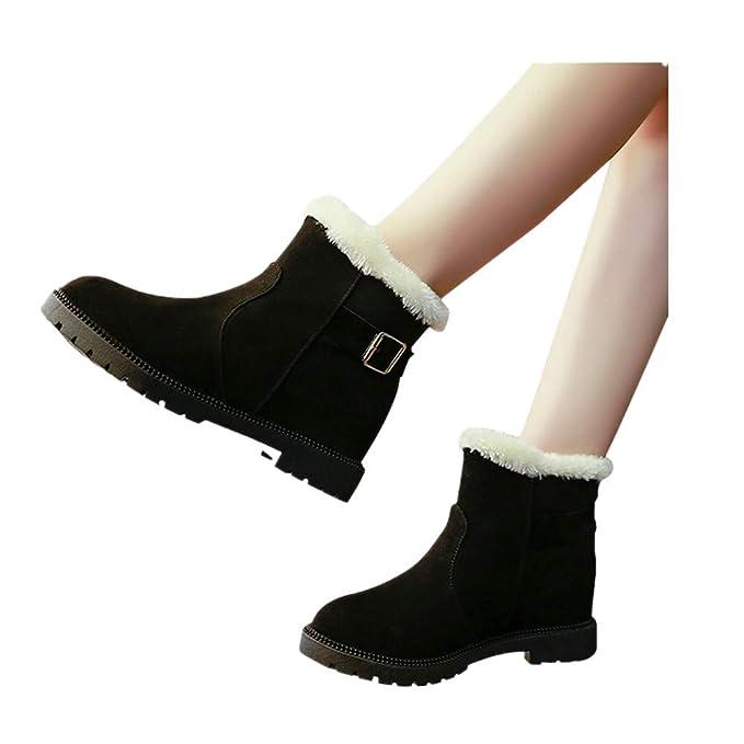 58f39d3a705 Snow Boots Women Winter Warm Strap Anti-Slip Ankle Booties Waterproof Slip  On Warm Fur