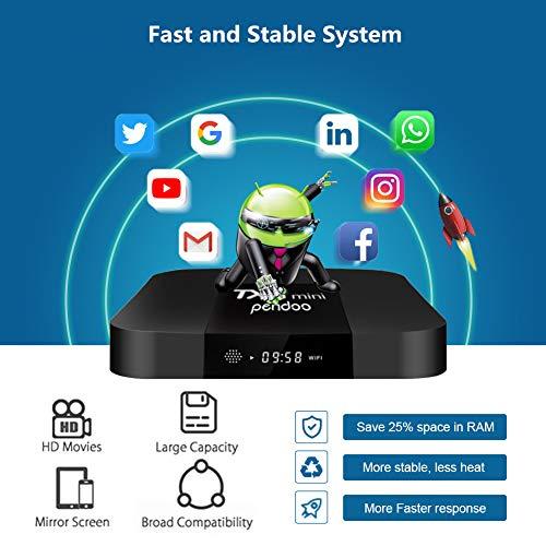 Android TV Box,Android 7.1 TV Box TX3 Mini 2GB/16GB Amlogic S905W Quad core 64 Bits WiFi Smart 4K TV Box by pendoo (Image #3)