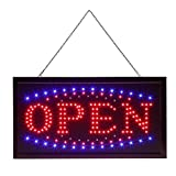Large Bright LED Open Sign, Neon Open Sign for Business Lighted Light up Open Sign with 2 Flashing Modes for Stores, Walls, Window, Shop, Bar, Hotel, 19 x 10inch (Style 2(only Open))
