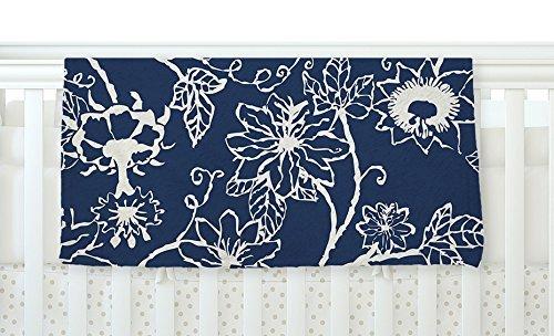 KESS InHouse Laura Nicholson Passion Flower Navy Floral Fleece Baby Blanket 40 x 30 [並行輸入品]   B077ZVWPDW