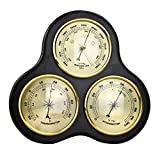 Almencla Thermometer, Barometer, Hygrometer,Weather Station Supply for Office, Library, Upscale Restaurant or Scientific