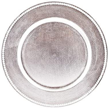 Koyal Wholesale Charger Plates, Silver (Pack of 4)