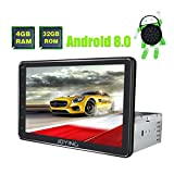 JOYING Car Radio Android 8.0 4GB + 32GB Octa Core 8 inch Single Din GPS Navigation Support Zlink, Android Auto, DVR, RCA Backup Camera, Fast Boot