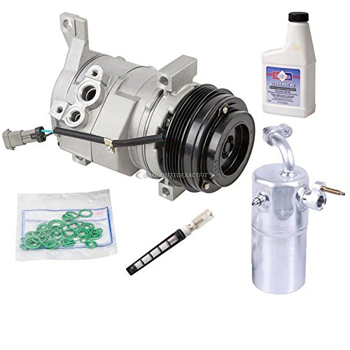 New AC Compressor & Clutch With Complete A/C Repair Kit For GM (Hd A/c Compressor Clutch)