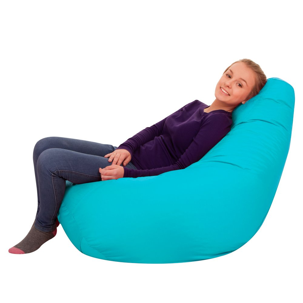 Bean Bag Bazaar® Outdoor Sitzsack - 118cm x x x 70cm, Wasserabweisend Außen Sitzsack (Limettengrün, 2) 404ee2