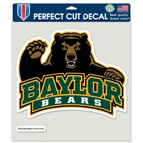NCAA Baylor University Perfect Cut Color Decal, 8