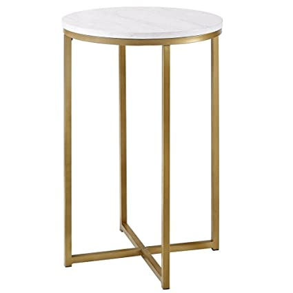 marble top end tables Amazon.com: Side Table Marble Top Round Laminate Small Round  marble top end tables