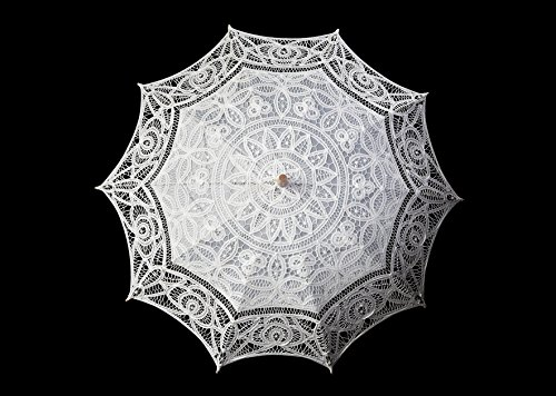 The 1 for Vintage Batternburg Lace Parasol 8 Colors (White) by The 1 for U (Image #3)
