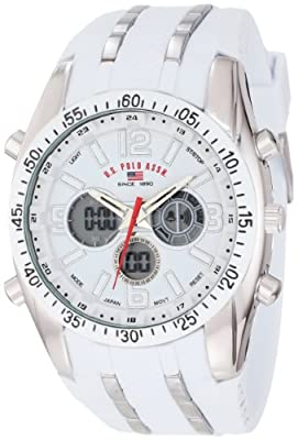 U.S. Polo Assn. Sport Men's US9282 White Analog-Digital Chronograph Watch