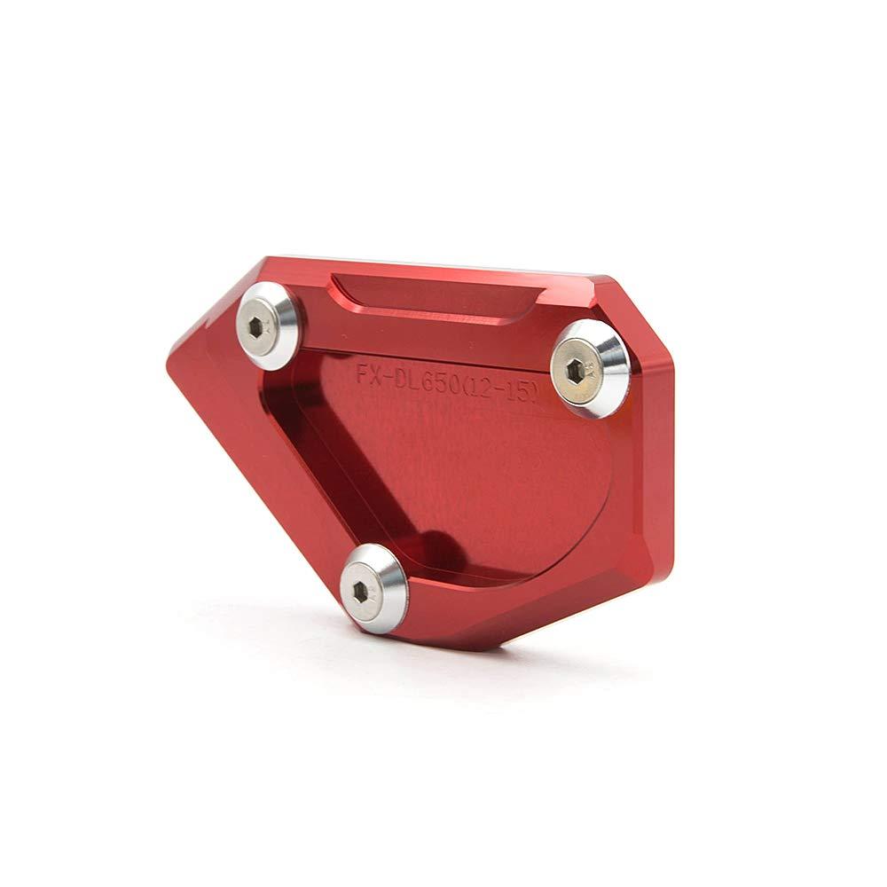 FXCNC Racing aluminio CNC soporte de placa lateral para motocicleta compatible con Suzuki DL650 V-STROM 650 2012-2020