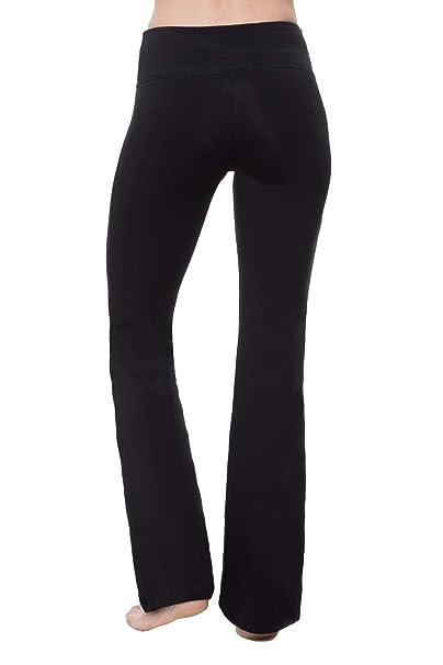 "5e24c47b78502 NIRLON Yoga Pants for Women Bootcut Tummy Control Athletic Workout Leggings  Flare Leg 28""/"