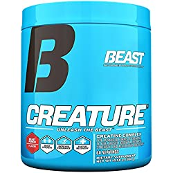 Beast Sports Creature Creatine Complex- 5 High Quality Forms of Creatine including Creatine Monohydrate. Build Muscle Fast. 2 Time Creatine Supplement of the Year. 300 Gms 60 Servings, Beast Punch
