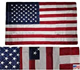28×40 Embroidered USA American Pole Sleeve Nylon Flag 28″x40″ (Made in USA) PREMIUM Vivid Color and UV Fade BEST Garden Outdor Decor Resistant Canvas Header and polyester material FLAG Review