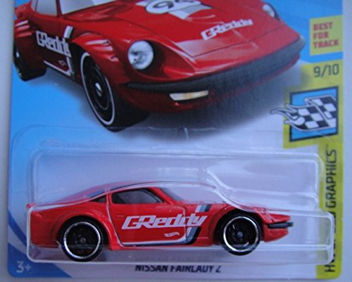 Hot Wheels SPEED GRAPHICS 9/10, RED NISSAN FAIRLADY Z 244/365 50TH ANNIVERSARY CARD