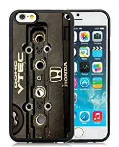 Fashionable iPhone 6S Plus Case,Honda Dohc Vtec Machine 1 Black Customized Case For iPhone 6S Plus 5.5 Inch TPU Case