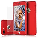 3d type book - iPhone 7 Plus case, VPR 2 in 1 Ultra Thin Full Body Protection Hard Premium Luxury Cover [Slim Fit] Shock Absorption Skid-proof PC case for Apple iPhone7 Plus (5.7inch) (Red)