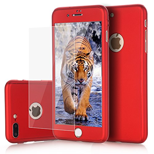 iPhone 7 Plus case, VPR 2 in 1 Ultra Thin Full Body Protection Hard Premium Luxury Cover [Slim Fit] Shock Absorption Skid-proof PC case for Apple iPhone7 Plus (5.7inch) (Red) from VPR