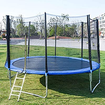 partysu 12 FT Kids Trampoline with Enclosure Net Jumping Mat and Spring Cover Padding Outdoor Children's Adult Trampoline Outdoor Large Bungee Bed with net : Sports & Outdoors