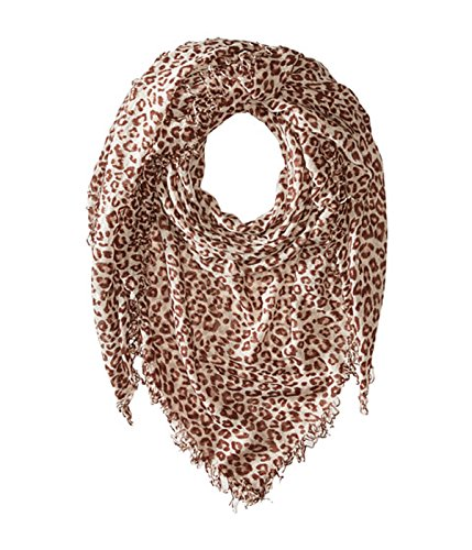 Chan Luu Cashmere and Silk Scarf in Crystal Combo Leopard Print