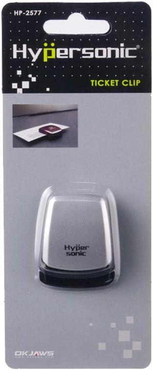 Hypersonic HP2577-3 Clip Universel pour Tickets bancaire//Support de Carte de stationnement 35x42x14mm-Auto-adh/ésif