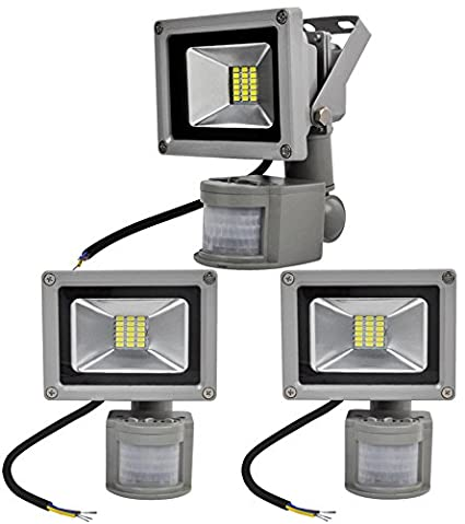 ALPHA DIMA 3pcs Foco LED 20W con Sensor de Movimiento,smd LED Luz de Inundación