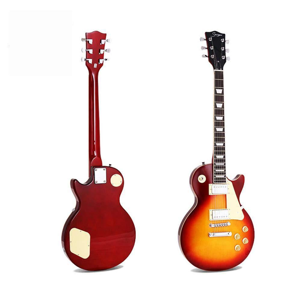Hjyi Guitarra eléctrica de Madera sólida con Doble Toma de ...