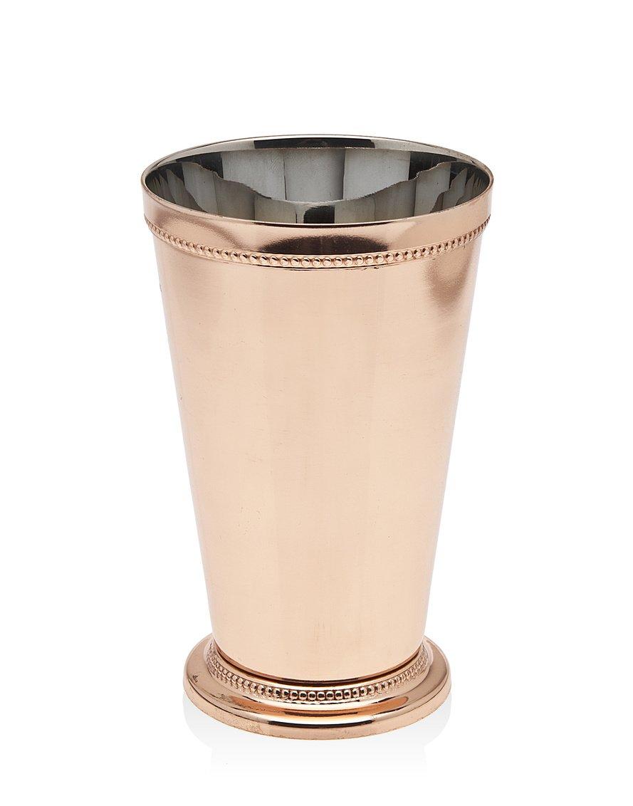 Godinger Beaded Mint Julep Cup, 6.25'', Copper