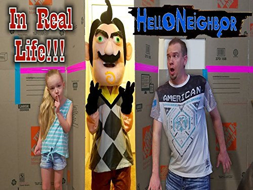 Hello Neighbor In Real Life! Squishy Scavenger Hunt Game In Huge Box Fort Maze!]()