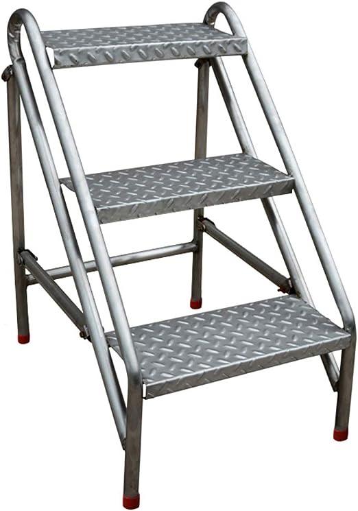 Taburete Plegable de 3 peldaños Escalera escalonada Silla de Acero Inoxidable Escalera Multiusos Escalera Multiusos Sillas de Escalera para el jardín o la fábrica, para Servicio Pesado Máx. 200kg: Amazon.es: Hogar