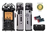 Tascam DR-44WL Portable Handheld Recorder with 4 Free Universal Electronics AA Batteries and 1 Year Free Extended Warranty