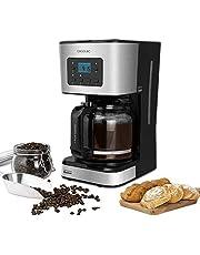 Cecotec Cafetera Goteo Coffee 66 Smart. Tecnología ExtremeAroma, Digital con Pantalla LCD, Capacidad 1,5l (12 tazas), Función Recalentar y Mantener Caliente, Jarra Termoresistente, Programable, 950W