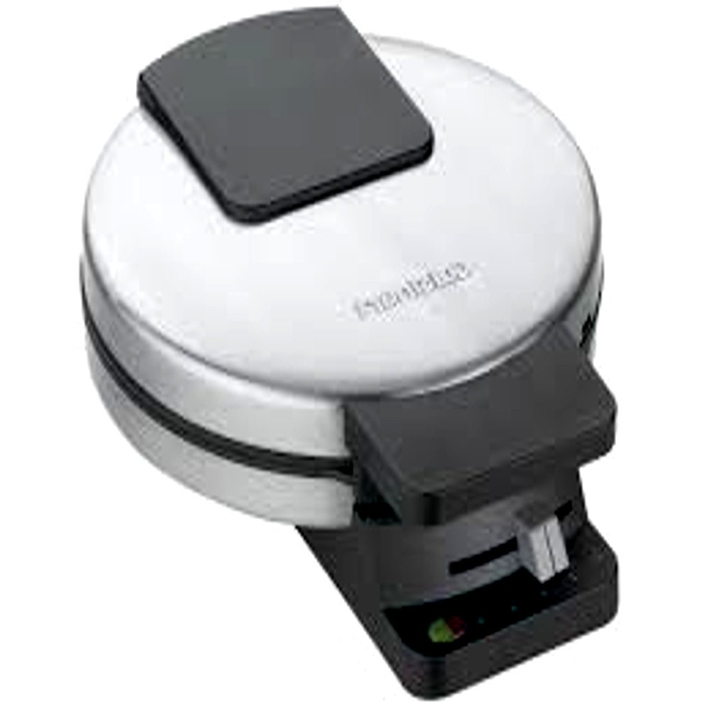 7 Inch Commercial Waffle Makers, Classic Mini Silver Stainless Steel Round Waffle Maker & E-Book
