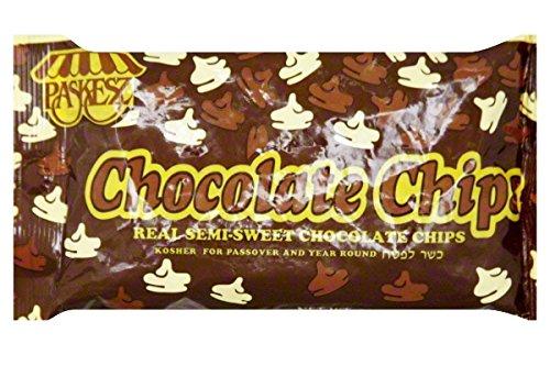 Paskesz Kosher Semi-Sweet Belgium Chocolate Baking Chips 10 oz. (Pack of 2) by Paskesz