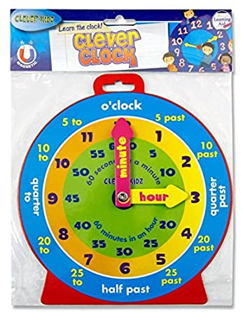TEACHING TIME CLOCK MAGNETIC: Amazon.co.uk: Toys & Games