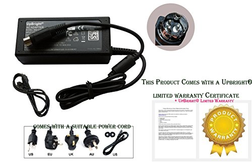 UpBright 24V AC/DC Adapter For EPSON TM Series T88III TM-U220B M188B TM-T88V M235A TM-T88II TM-88II POS Printer TM-U325D TM-U325PD TM-U375P TM-U300B M51JB PB-6510B M31T-E M34PB TM-T60 PS-130 (Power Adapter Cable Model)