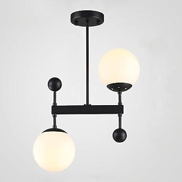 HOMEE Postmodern Glasschirm sphärische Eisen Lampe Körper ...