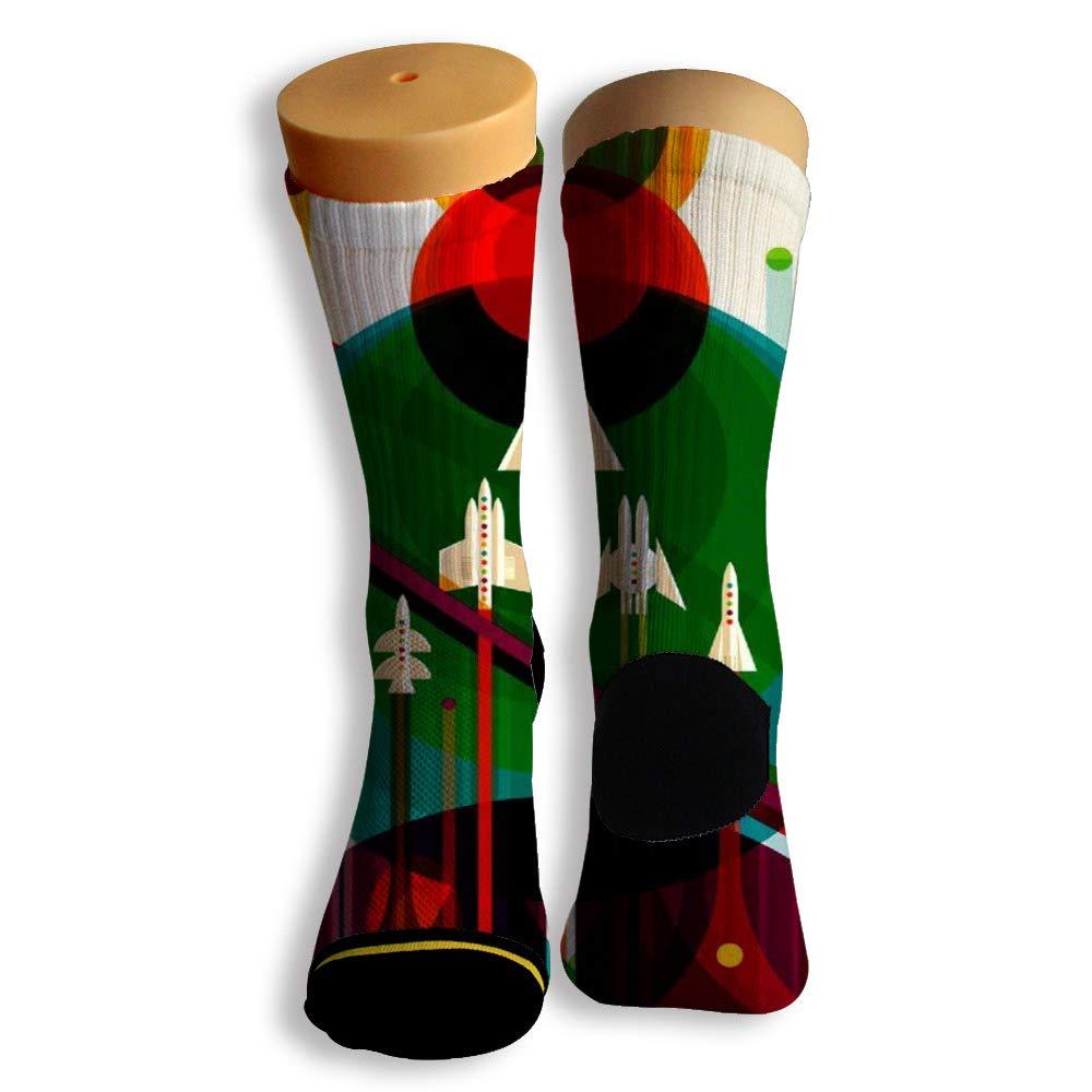 Basketball Soccer Baseball Socks by Potooy Small Plane 3D Print Cushion Athletic Crew Socks for Men Women