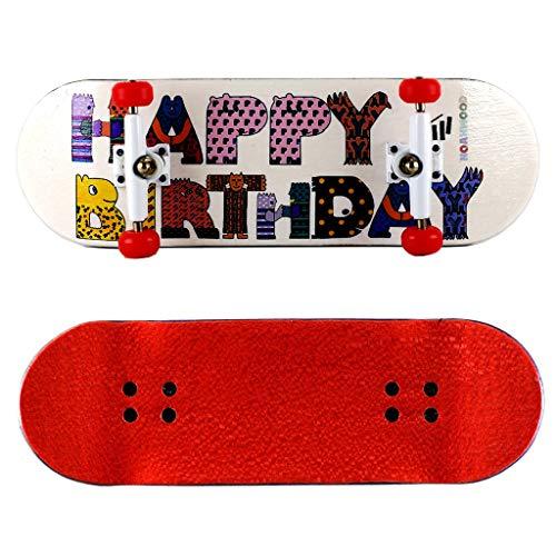 NOAHWOOD Wooden PRO Fingerboards (Deck,Truck,Wheel / a Set) (Happy Birthday I) ()