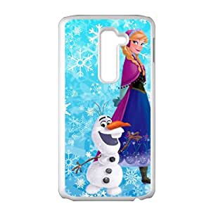Frozen Snowman Olaf and Princess Anna Cell Phone Case for LG G2