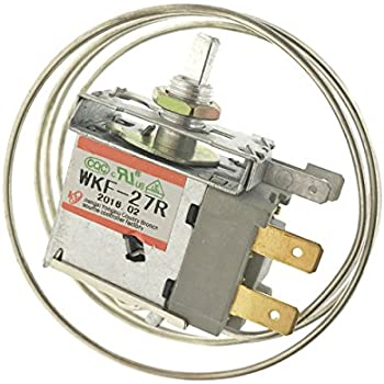 Saim AC 250V 6A 2 Pin Terminals Freezer Refrigerator Thermostat WKF-27R